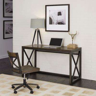 home desk chairs ikea toddler table and office chair industrial xcel mahogany copper wood swivel