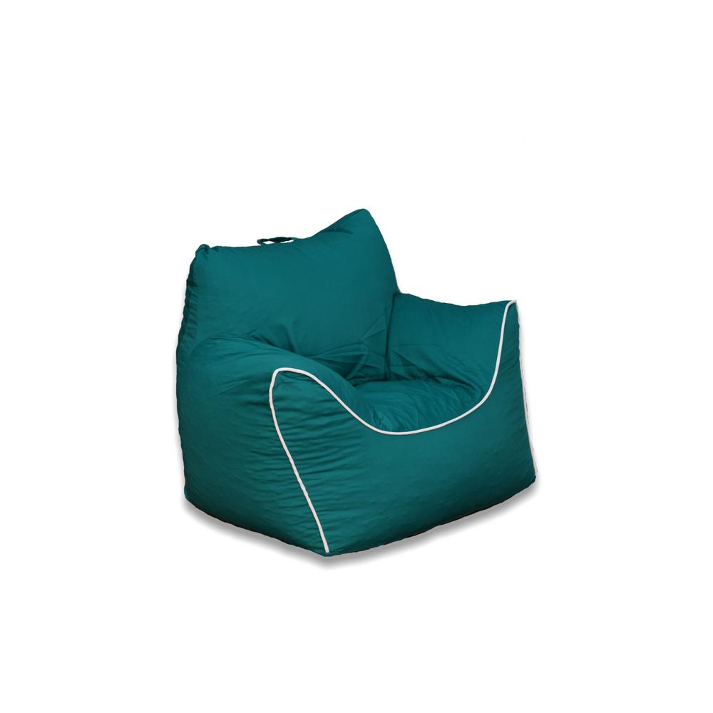 teal bean bag chair hanging and stand emerald green poly cotton structured 9571801 the home depot