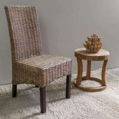 Basket Weave Dining Chairs Recaro Racing Seats Office Chair Wood Solid Back Wicker Kitchen Room Java No Assembly Mahogany And Rattan Parsons Set Of 2