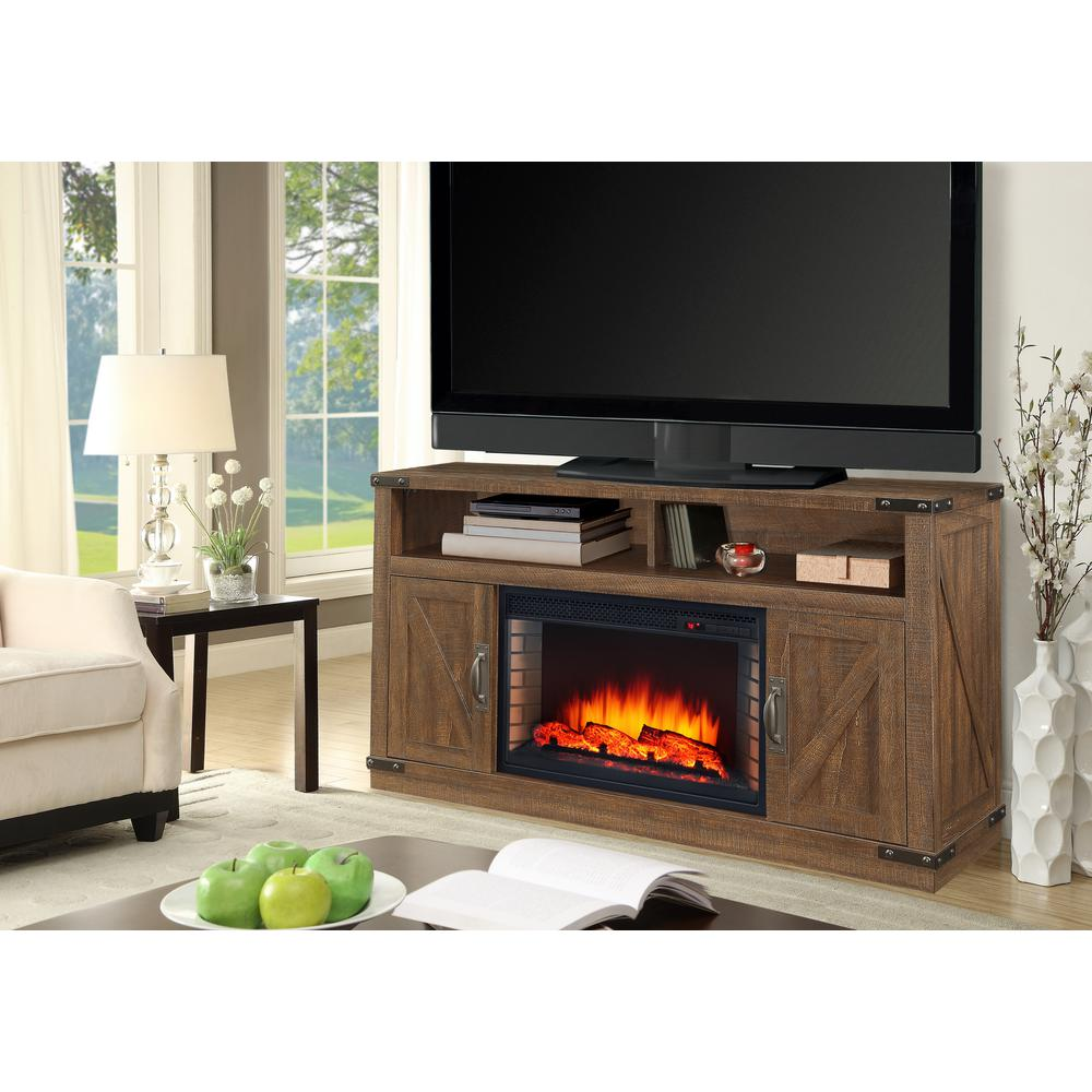 Muskoka Aberfoyle 48 in Freestanding Electric Fireplace TV Stand in Rustic Brown23405200KIT