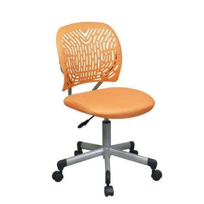 orange office chair chairs for living room india desk home furniture revv