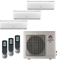 gree multi 21 zone 29000 btu ductless mini split air conditioner with heat inverter and remote 230 volt 60hz multi30hp303 the home depot [ 1000 x 1000 Pixel ]