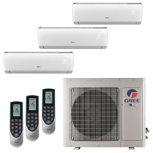 small resolution of gree multi 21 zone 29000 btu ductless mini split air conditioner with heat inverter and remote 230 volt 60hz multi30hp303 the home depot