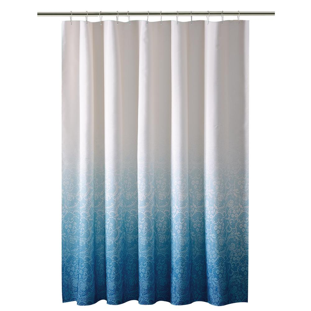 Bathroom Shower Curtain 72 In Purple Shower Curtain In Ombre Printed Polyester