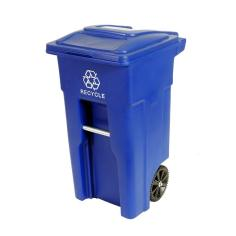 Image result for blue recycling can