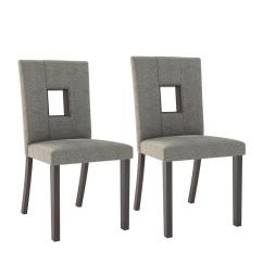 White Fabric Dining Chairs Pottery Barn Slipcovers Chair Bistro Grey Sand Set Of 2 Dip 421 C The