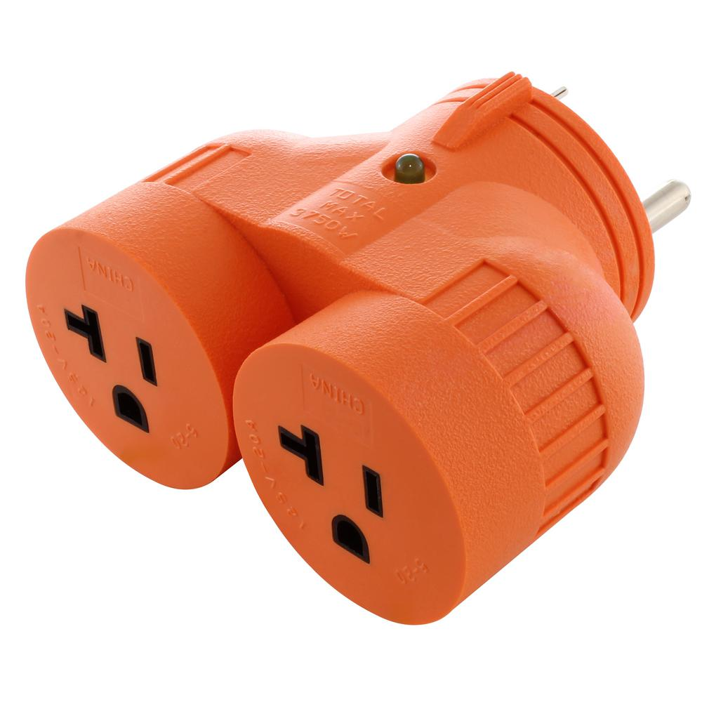 medium resolution of ac works generator v duo outlet adapter tt 30p rv 30 amp plug to 2 10a plug wiring generator 20a plug wiring