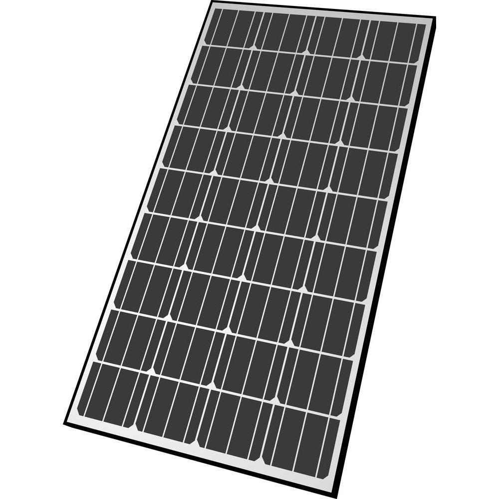 Nature Power 165 Watt Monocrystalline Solar Panel For 12 Volt Charging 50162 The Home Depot