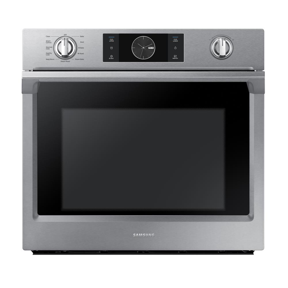 hight resolution of single electric wall oven with steam cook flex duo and dual