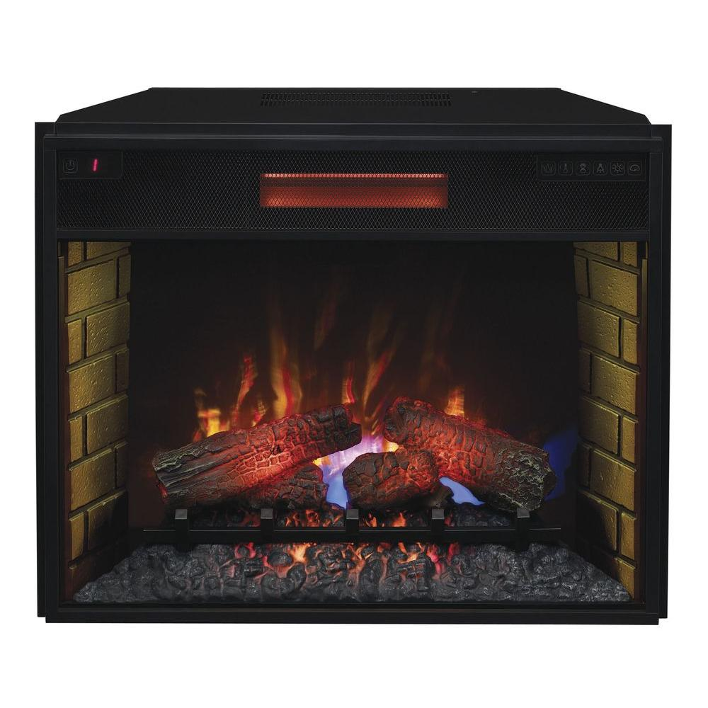 28 in Infrared Quartz Electric Fireplace Insert with
