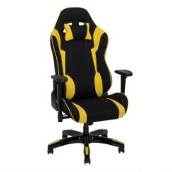 Yellow Office Chair Outdoor Chairs At Walmart Corliving Black And High Back Ergonomic Gaming 7