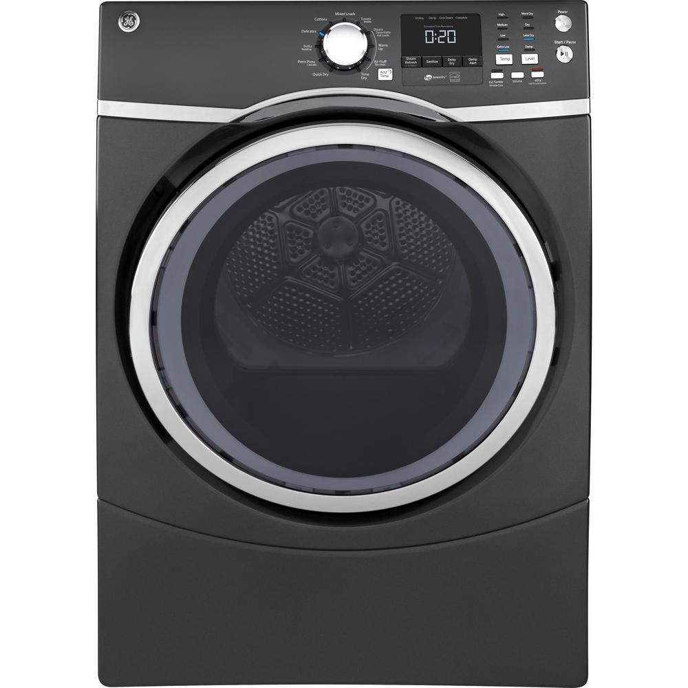 medium resolution of ge 7 5 cu ft capacity front load electric dryer with steam in diamond gray