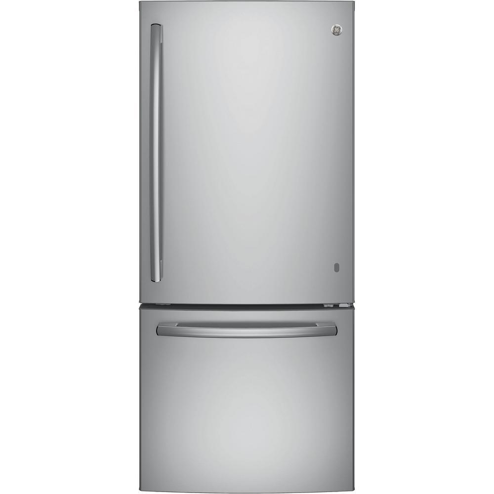 medium resolution of ge 21 0 cu ft bottom freezer refrigerator in stainless steel