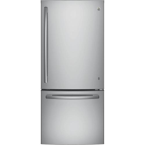small resolution of ge 21 0 cu ft bottom freezer refrigerator in stainless steel
