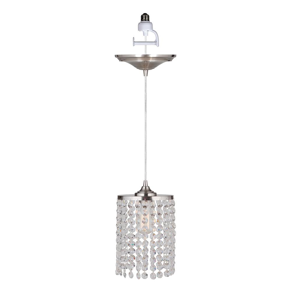 Worth Home Products Instant Pendant 1-Light Brushed Nickel