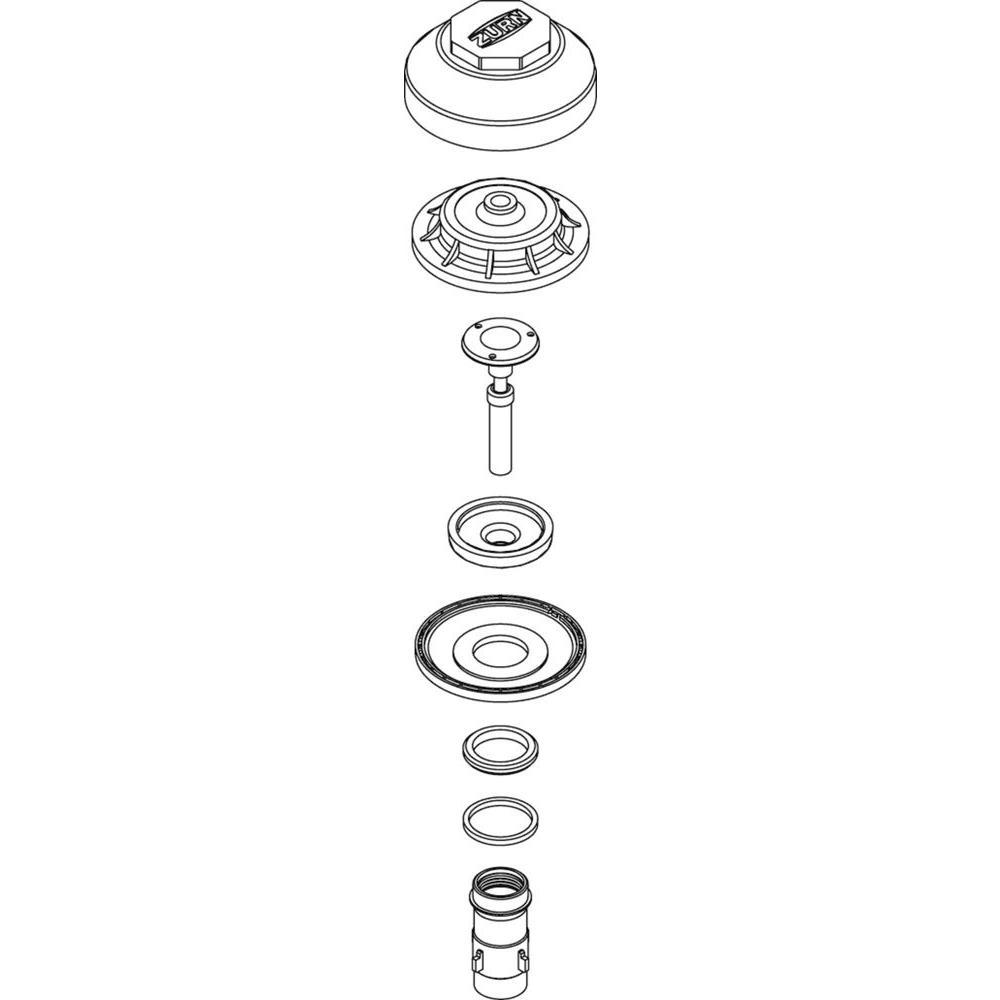 Zurn Guide Assembly for Segmented Diaphragm for Flush