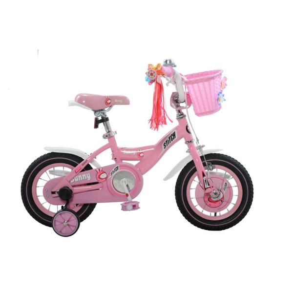 Stitch Bunny Girl' Bike 12 In. Wheels 8 Frame In Pink White-sc01a-12 - Home Depot