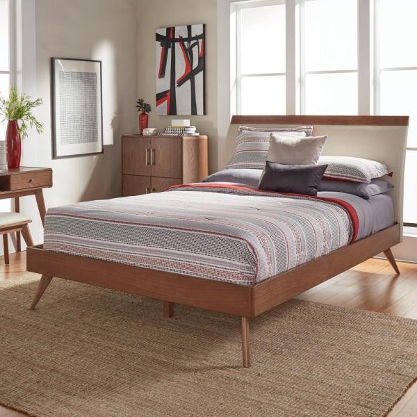 Homesullivan Holbrook Chestnut Full Platform Bed-401915nf-1b - Home Depot