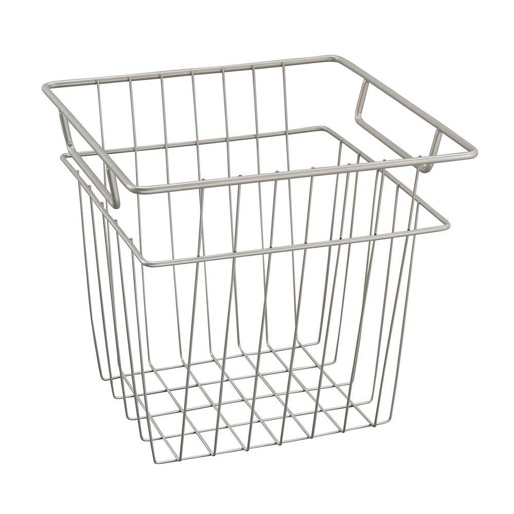 ClosetMaid 10.7 in. x 10.2 in. Small Wire Basket in Nickel