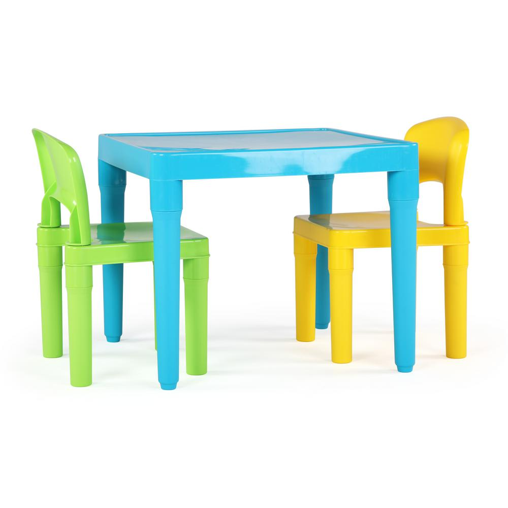 3 piece table and chair set mid century wire outdoor chairs tot tutors playtime aqua kids plastic