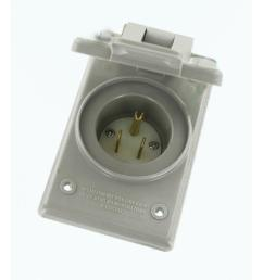 15 amp 125 volt straight blade grounding power inlet outlet gray [ 1000 x 1000 Pixel ]