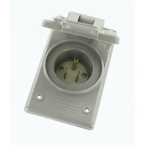 small resolution of 15 amp 125 volt straight blade grounding power inlet outlet gray