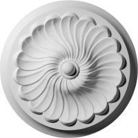 Ekena Millwork 12-1/4 in. Flower Spiral Ceiling Medallion ...