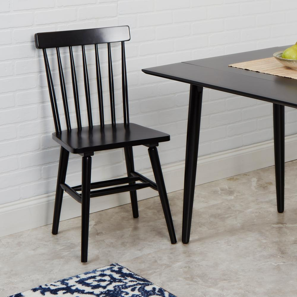 Windsor Chairs Black Connor Black Dining Chairs Set Of 2