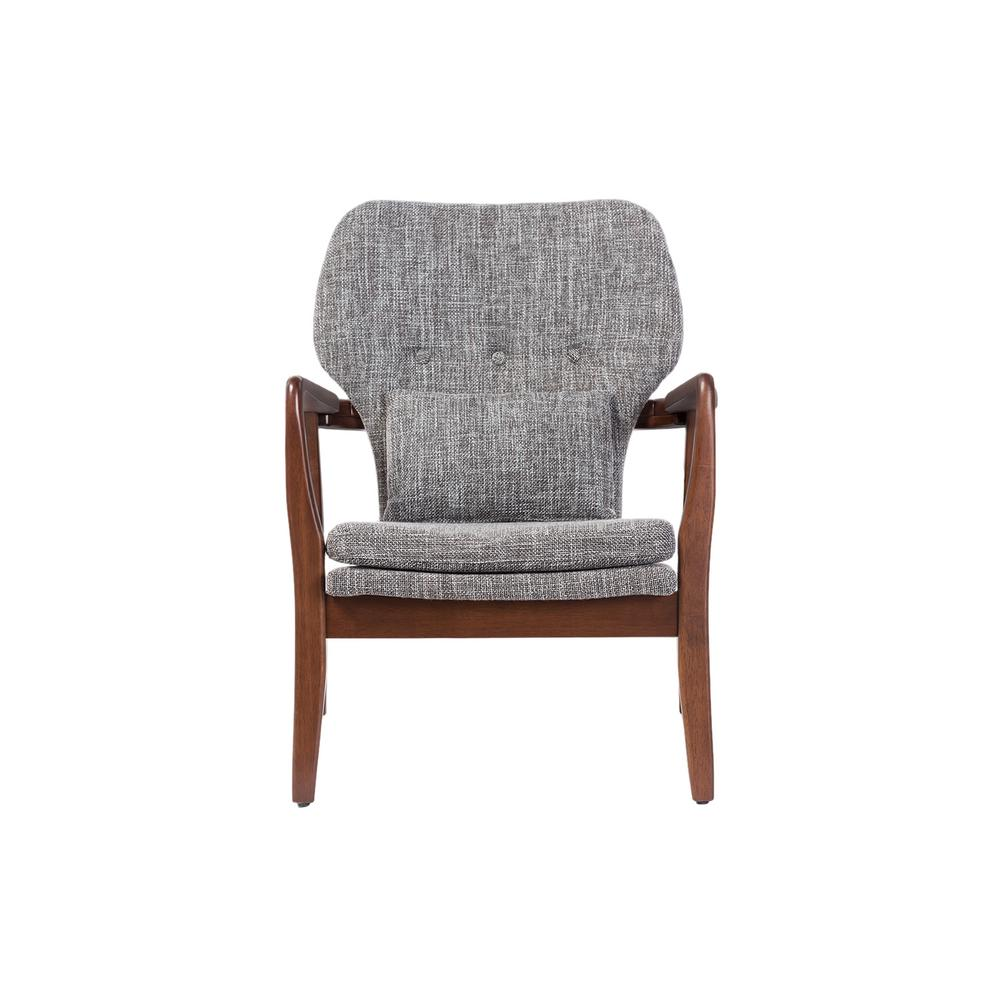 mid century accent chair narrow rocking baxton studio rundell gray fabric upholstered