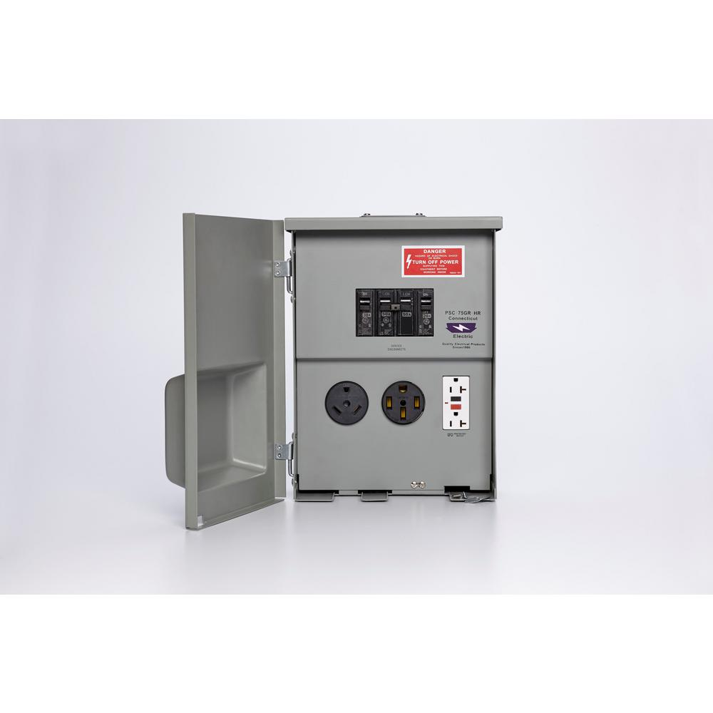 hight resolution of connecticut electric 80 amp rv panel outlet with 50 amp and 30 amp