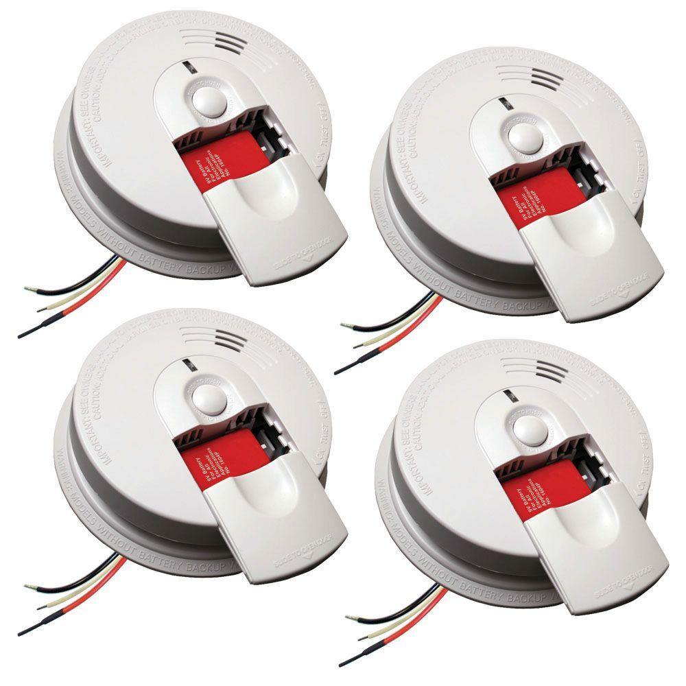 hight resolution of kidde firex hardwire smoke detector with 9v battery backup and front load battery door 4