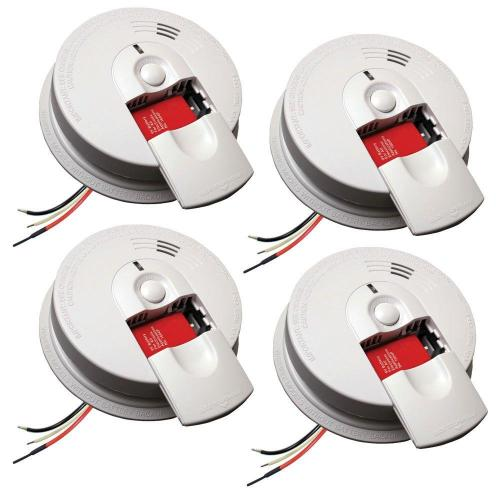 small resolution of kidde firex hardwire smoke detector with 9v battery backup and front load battery door 4