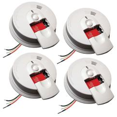Kidde Smoke Alarm Wiring Diagram Yamaha Virago 535 Firex Hardwire Detector With 9v Battery Backup And Front Load Door 4 Pack 21027521 The Home Depot