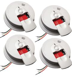 kidde firex hardwire smoke detector with 9v battery backup and front load battery door 4 [ 1000 x 1000 Pixel ]