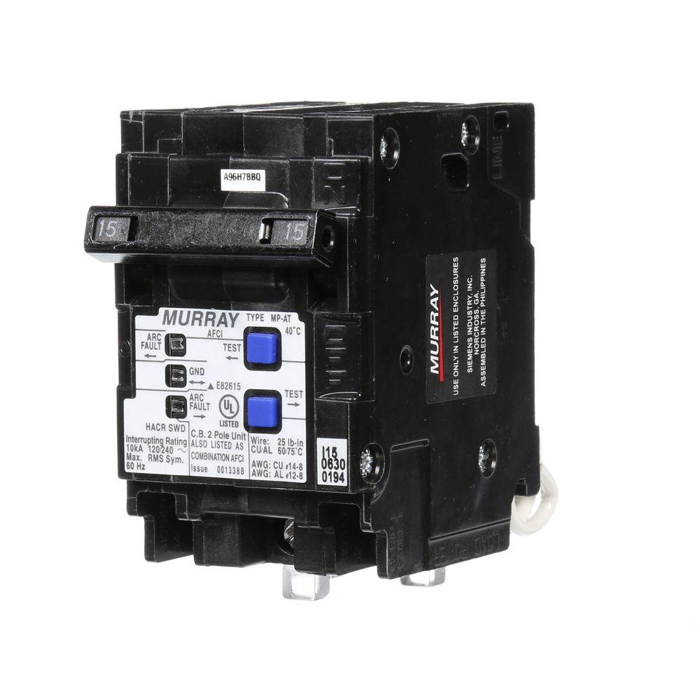 arc fault circuit breaker wiring diagram spur murray 15 amp double pole type mp at combination afci
