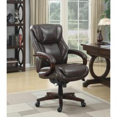 La Z Boy Big Tall Executive Leather Office Chair Black Wedding Covers For Armchairs Bellamy Coffee Brown Bonded