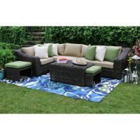 AE Outdoor Williams 8-Piece All-Weather Wicker Patio ...