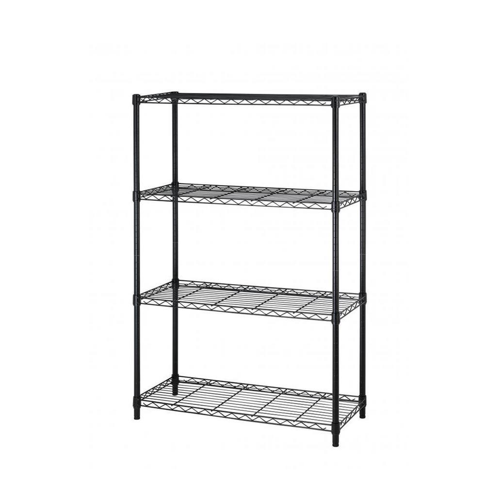 36 in. x 14 in. 4-Tier Wire Adjustable Steel Shelf Rack in
