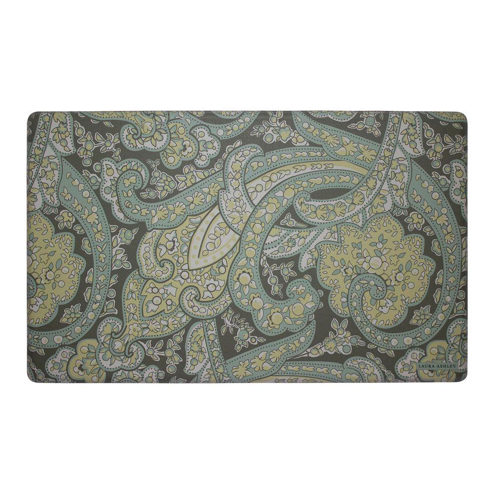 memory foam kitchen mats sink faucets lowes laura ashley vanessa chamomile 20 in x 32 mat