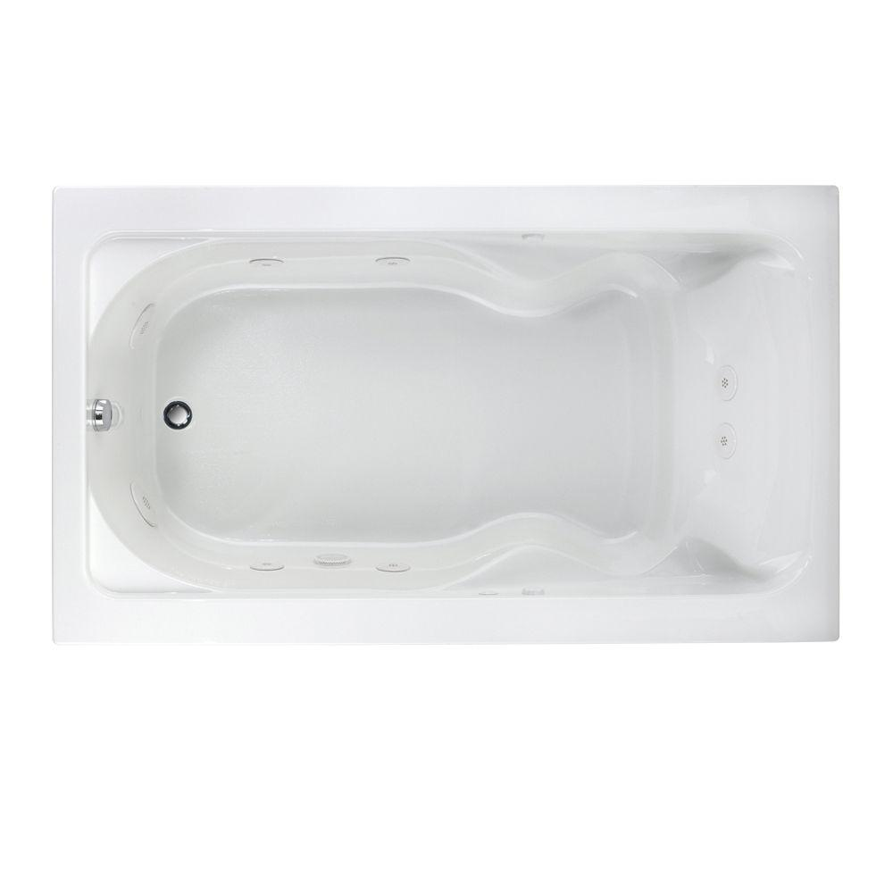 American Standard Cadet 72 in x 42 in Whirlpool Tub in White2774018W020  The Home Depot