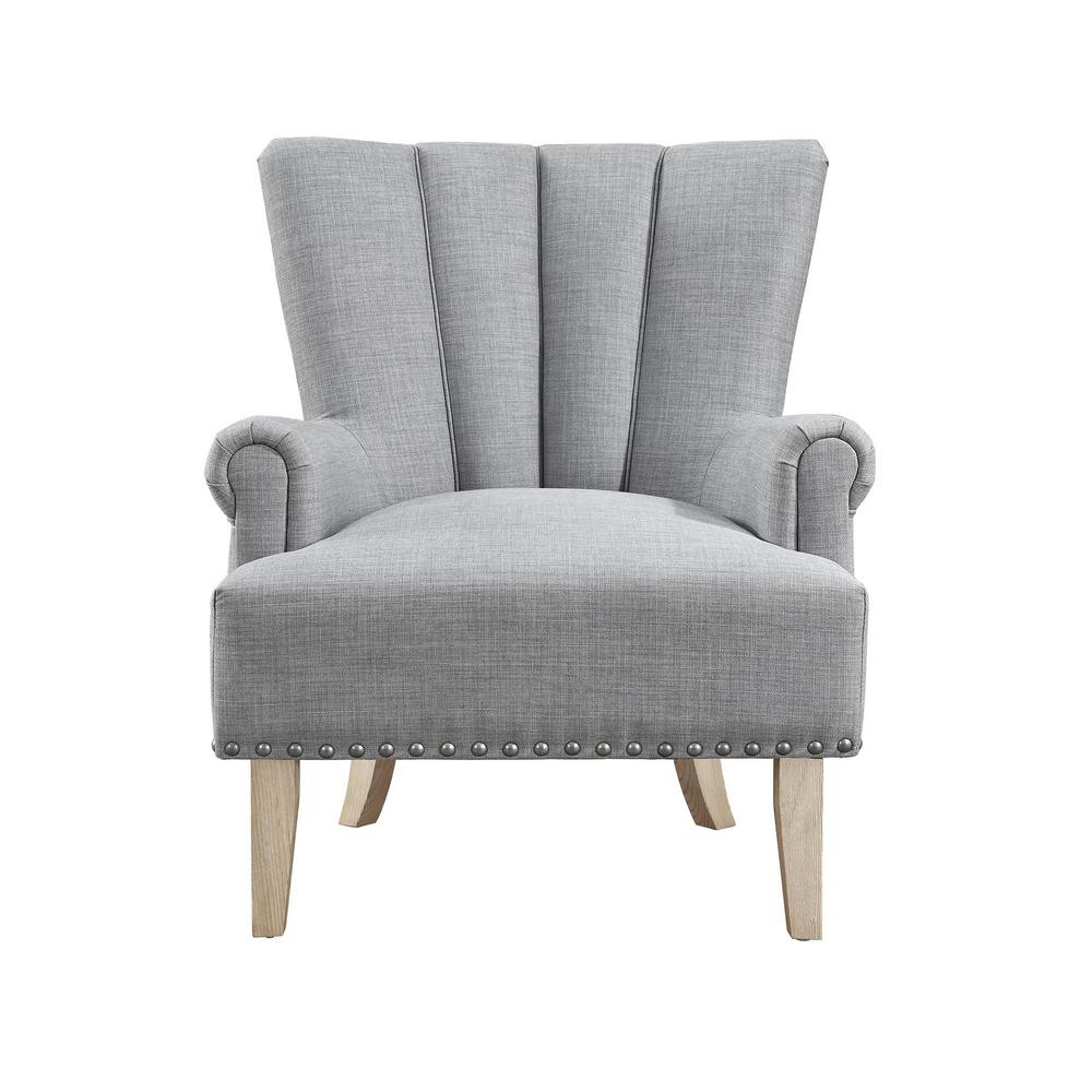 accent chair gray childrens plastic garden chairs dorel living belvedere fh7201 gr the home depot