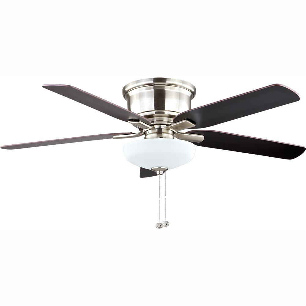 hight resolution of hampton bay holly springs low profile 52 in led indoor brushed nickel ceiling fan with light kit