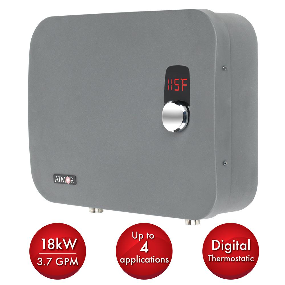 hight resolution of atmor thermopro 18 kw 240 volt 3 7 gpm stainless steel electric tankless water heater with self modulating technology at 910 18tp the home depot