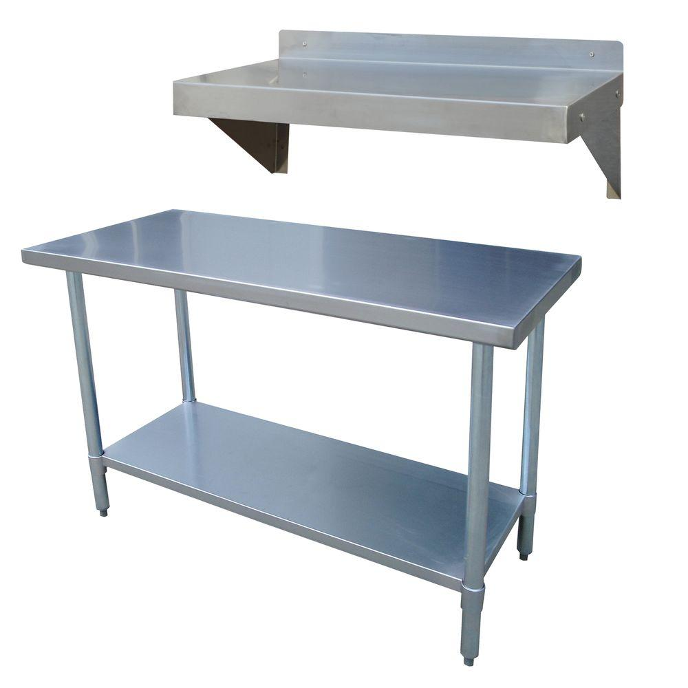 Sportsman Stainless Steel Kitchen Utility Table with Work