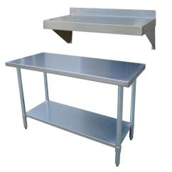Kitchen Work Tables Greenery Above Cabinets Sportsman Stainless Steel Utility Table With Shelf