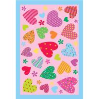 LA Rug Fun Time Hearts Pink 39 in. x 58 in. Area Rug-FT ...