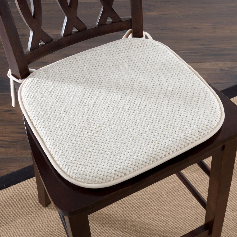 chair pad foam wicker dining room chairs indoor lavish home 16 in x beige memory 69 05 b