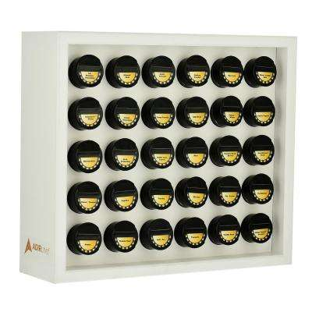 kitchen spice rack bargain outlet cabinets racks jars storage organization the home white wood 31 piece