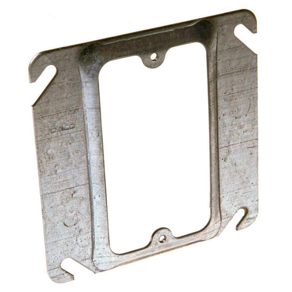 medium resolution of square single device mud ring 1 2 in raised