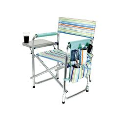 Portable Folding Chairs Spandex Chair Covers Picnic Time St Tropez Collection Sports Patio